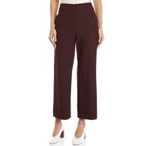 Club Monaco Benicia Burgundy High Rise Wool Pants